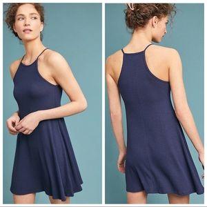 BNWT ANTHROPOLOGIE RIBBED HALTER DRESS Size M